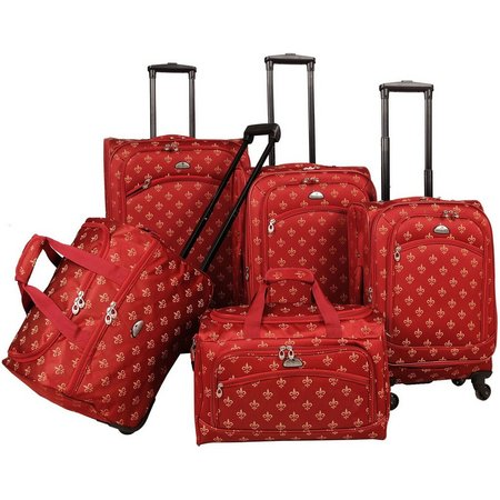 American Flyer 5-pc. Fleur De Lis Luggage Set