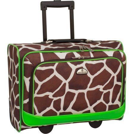 American Flyer Giraffe Print Underseater Luggage