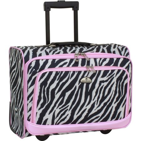 American Flyer Zebra Print Underseater Luggage