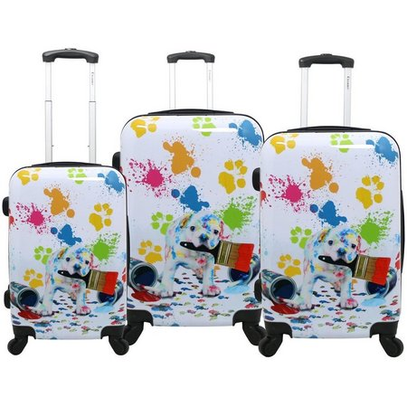 Chariot 3-pc. Paint Puppy Hardside Luggage Set