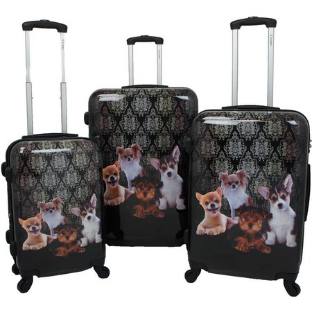 Chariot 3-pc. Doggies Hardside Luggage Set