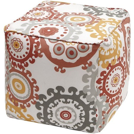 Madison Park Laguna 3M Scotchgard Outdoor Pouf