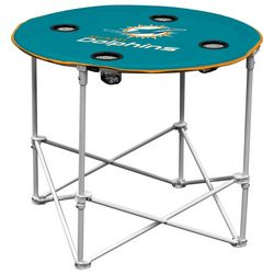 Miami Dolphins Portable Round Table by Logo Chair