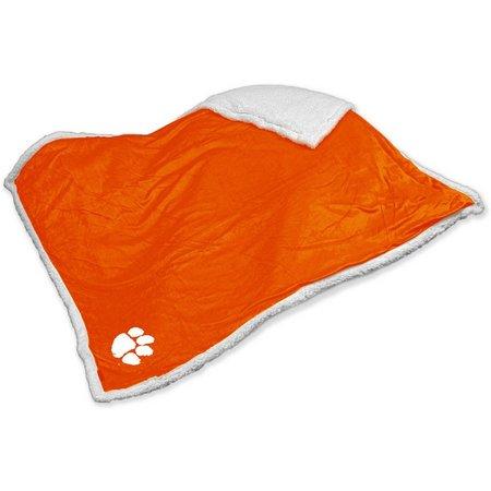 Clemson Sherpa Throw by Logo Chair