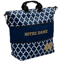 New! Notre Dame Quatrefoil Tote by Logo Chair