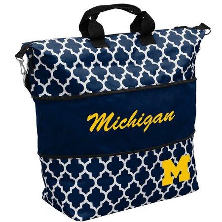 Michigan Quatrefoil Expandable Tote by Logo Brands