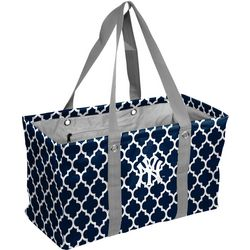 NY Yankees Quatrefoil Picnic Tote by Logo Chair