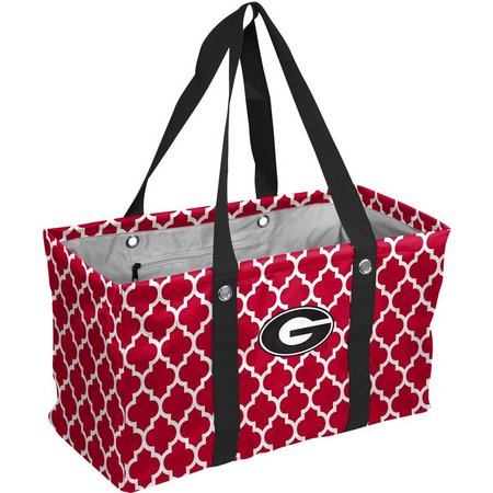 New! Georgia Quatrefoil Picnic Caddy Tote by Logo