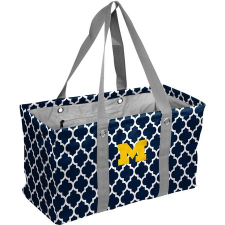 Michigan Quatrefoil Picnic Tote by Logo Chair