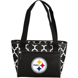 New! Steelers Quatrefoil 16 Can Cooler by Logo