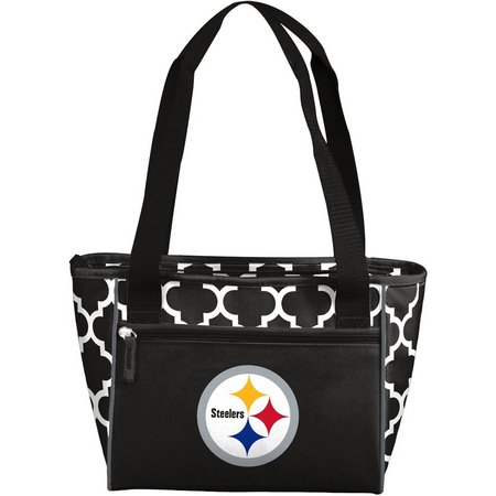 Steelers Quatrefoil 16 Can Cooler by Logo Chair