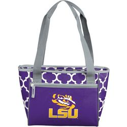 New! LSU Tigers Quatrefoil 16 Can Cooler by