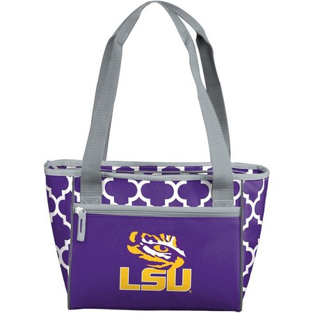 LSU Tigers Quatrefoil 16 Can Cooler by Logo