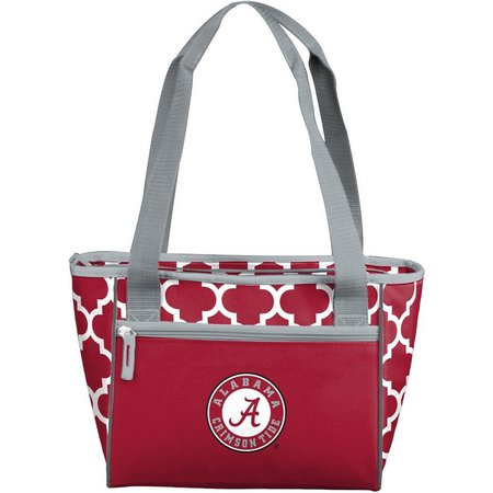 Alabama Quatrefoil 16 Can Cooler by Logo Chair
