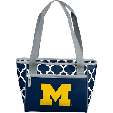 Michigan Quatrefoil 16 Can Cooler by Logo Chair
