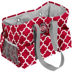 Ohio State Quatrefoil Jr. Caddy by Logo Chair
