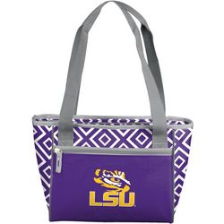 LSU Tigers Diamond 16 Can Cooler by Logo