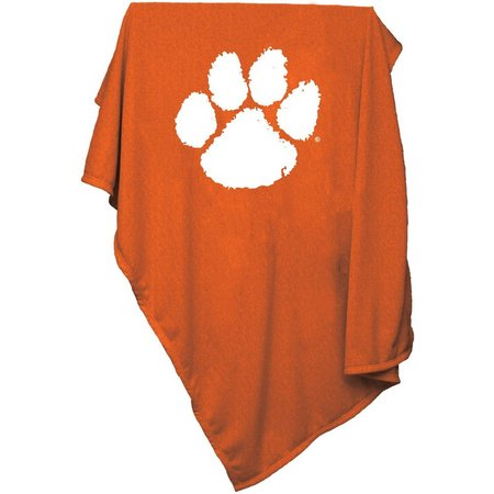 Clemson Sweatshirt Blanket by Logo Brands