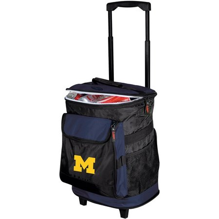 Michigan Wolverines Rolling Cooler by Logo Chair