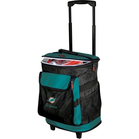 Miami Dolphins Rolling Cooler by Logo Chair