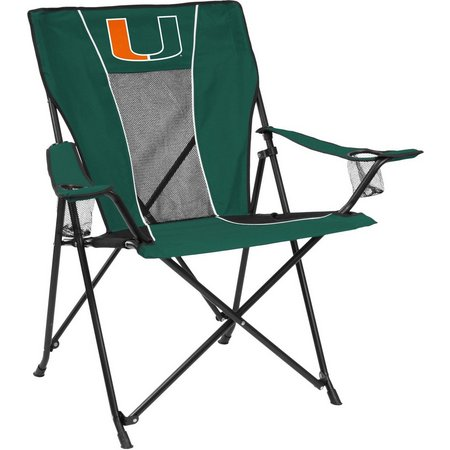 Miami Hurricanes Game Time Chair by Logo Brands
