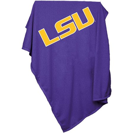 LSU Tigers Sweatshirt Blanket by Logo Brands
