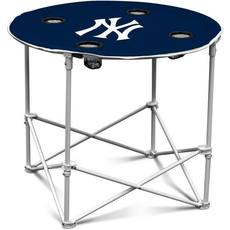 NY Yankees Portable Round Table by Logo Chair