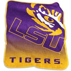LSU Raschel Plush Throw by Logo Chair
