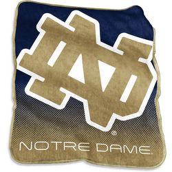 Notre Dame Raschel Plush Throw by Logo Chair