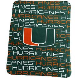 Miami Sublimated Logo Fleece Throw by Logo Chair