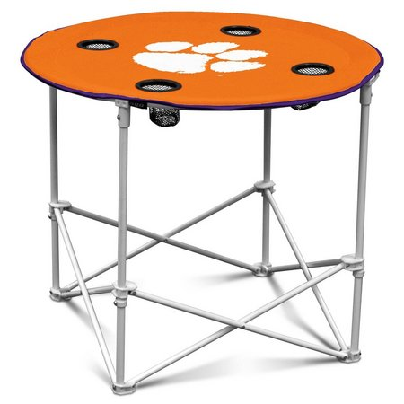 Clemson Portable Round Table by Logo Chair