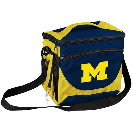 Michigan Wolverines 24 Can Cooler by Logo Chair