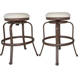 Panama Jack 2-pc. Tiki Bar Swivel Backless Stools