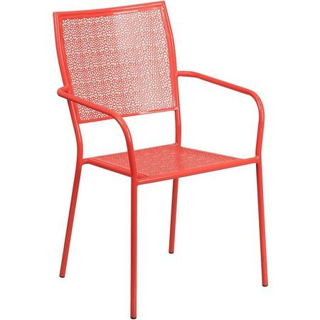 Flash Furniture Square Back Patio Arm Chair