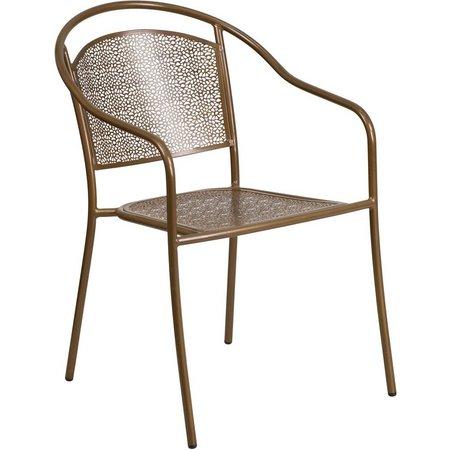 Flash Furniture Round Back Patio Arm Chair