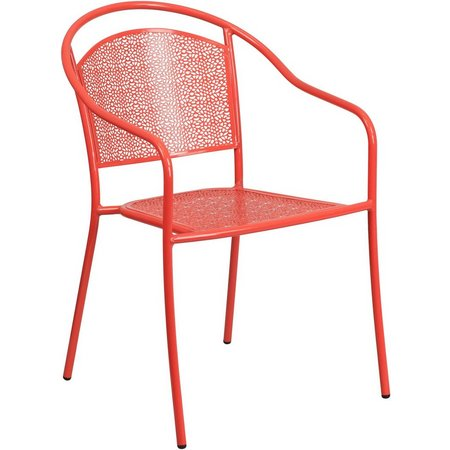 Flash Furniture Round Back Patio Arm Chair
