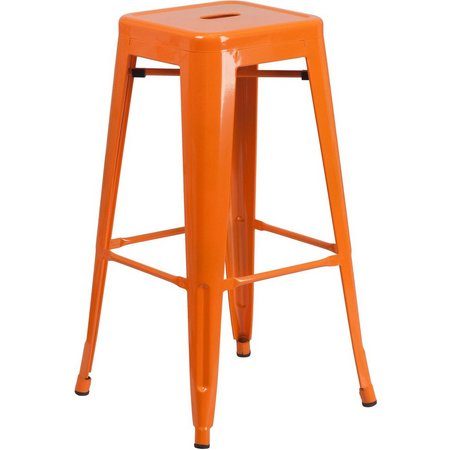 Flash Furniture 30'' Metal Square Seat Barstool