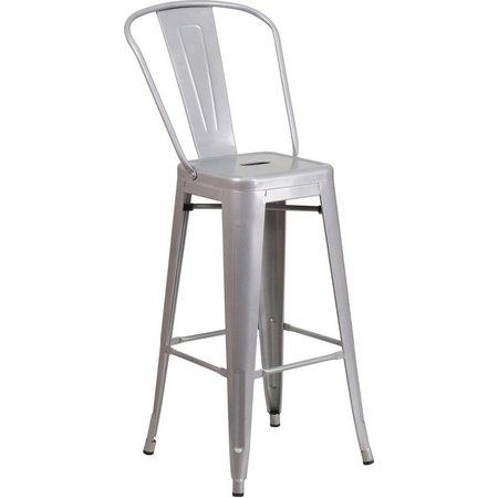 Flash Furniture 30'' Metal Barstool With Back