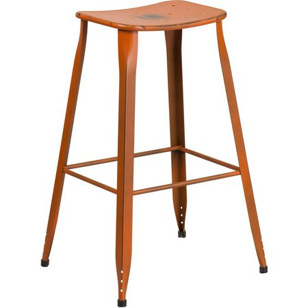 Flash Furniture 30'' Distressed Metal Barstool