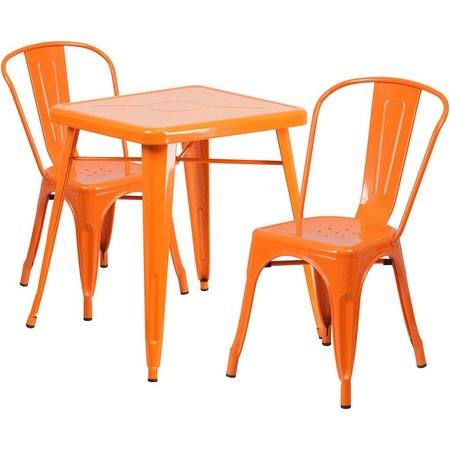 Flash Furniture 3-pc. Metal Square Table Set
