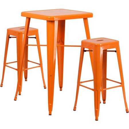 Flash Furniture 3-pc. Metal Square Bar Table Set