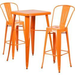 Flash Furniture 3-pc. Metal Bar Table Set