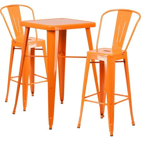 Flash Furniture 3-pc. Metal Bar Table Set