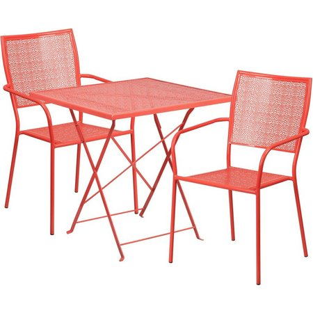 Flash Furniture Folding Table & Square Chair Set