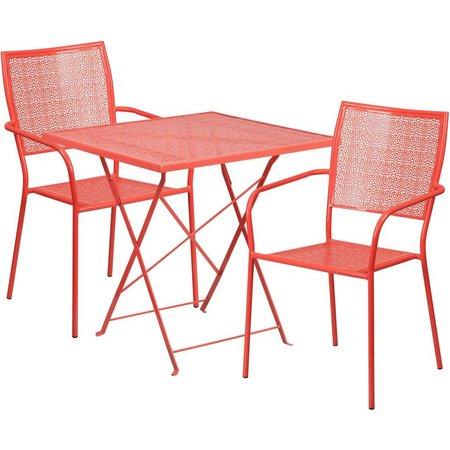 Flash Furniture Folding Table & Square Chair Set
