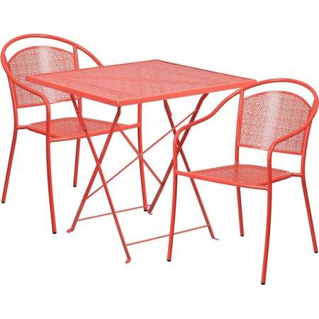 Flash Furniture Folding Table & Round Chair Set