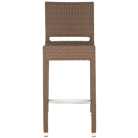 Safavieh Bethel Brown Indoor/Outdoor Barstool