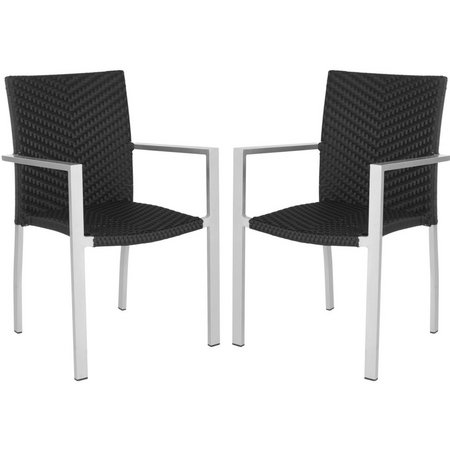 Safavieh Cordova Black Dining Chair Set
