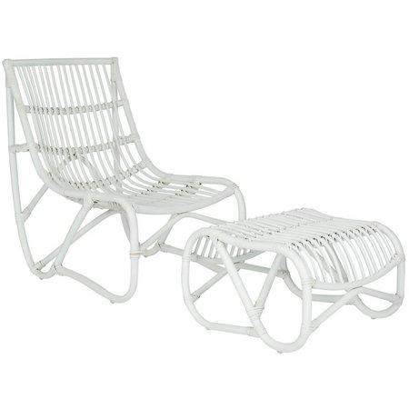Safavieh Shenandoah White Chair & Ottoman Set