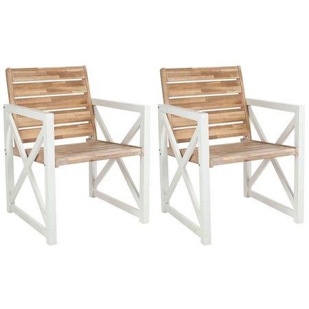Safavieh Irina Oak Armchair Set